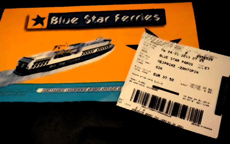 Blue Star Ferries Santorini central agency, Golden Star Ferries Santorini central agency